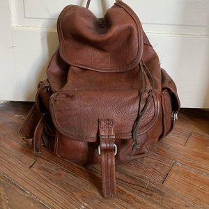 Awesome Vintage Leather Backpack
